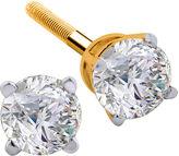 JCPenney FINE JEWELRY 1 CT. T.W. Diamond 14K Yellow Round Stud Earrings