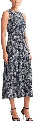 Lauren Ralph Lauren Farrah Sleeveless Day Dress (Lighthouse Navy/Blue/Colonial Cream) Women's Dress