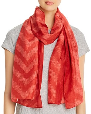 Eileen Fisher Chevron Stripe Silk Scarf