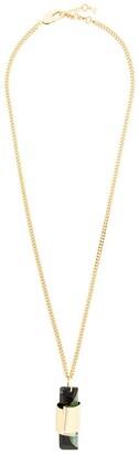 Coup De Coeur Agate stone long pendant
