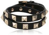 Valentino Rockstud Wrap Around Leather Bracelet