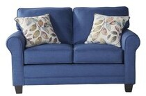 """Thumbnail for your product : Alcott Hill Palmerton 61"""" Round Arm Loveseat with Reversible Cushions"""