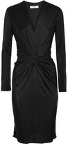 Lanvin Twist-front Jersey Dress - Black