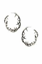 House Of Harlow Antler Hoop Earrings in Silver