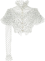 Rodarte Tulle One Sleeve Cropped Blouse