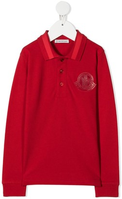 Moncler Enfant Logo Patch Polo Shirt