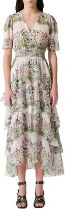 Maje Raffle Floral Maxi Dress