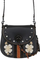Coach Saddle Embroidered Studded Leather Bag