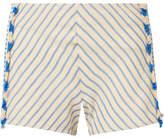 Dodo Bar Or - Tasseled Striped Cotton-gauze Shorts - Light blue