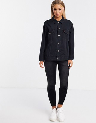 Levi's dad trucker denim jacket in black