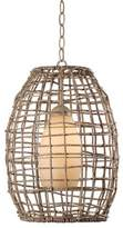 Kenroy Home Seagrass 1-Light Pendant in Tan