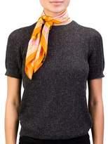 Versace Women's Baroque Pattern Silk Scarf Orange.
