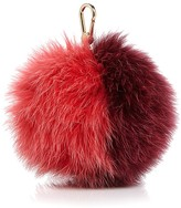 Furla Bubble Pom-Pom Bicolor Fox Fur Bag Charm