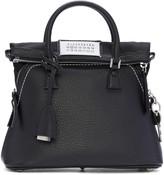 Maison Margiela Black Grained Leather Bag