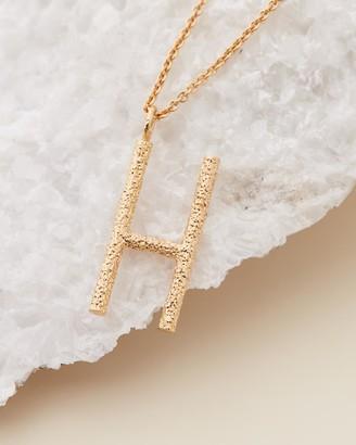 Amber Sceats Grande Letter Necklace - H