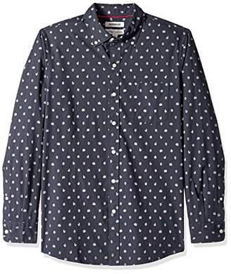 Goodthreads Men's Standard-fit Long-sleeve Printed Poplin Shirt Shirt,X-Small