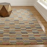 Crate & Barrel Bix Striped Wool Rug