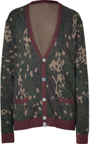 Marc by Marc Jacobs Deep Brown Multi Camouflage Cotton Cardigan