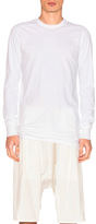 Rick Owens Long Sleeve Level Tee in White.