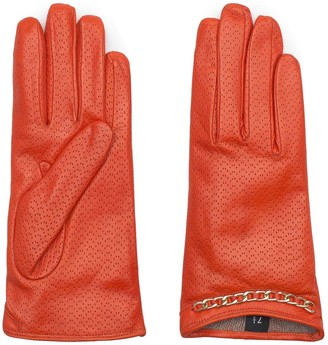 Dalgado Handmade Nappa Leather Gloves Brown Filippa
