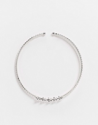 True Decadence choker necklace in rhinestone with pearl detail