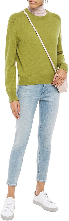 Thumbnail for your product : J Brand 835 Cropped Holographic Mid-rise Skinny Jeans