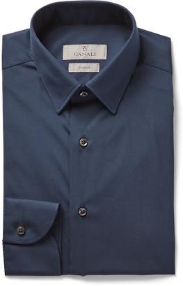 Canali Slim-Fit Cotton-Blend Poplin Shirt