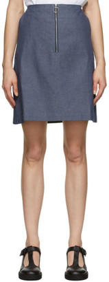 MAISON KITSUNÉ Blue A-Line Skirt