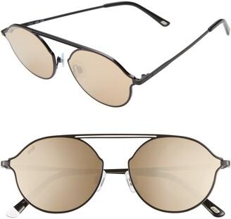 Web 57mm Round Sunglasses