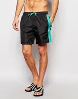 Bjorn Borg Swim Shorts With Stripe Black