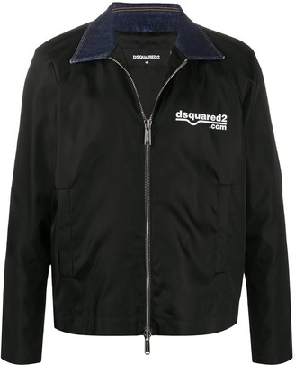 DSQUARED2 Contrasting Collar Zipped Jacket