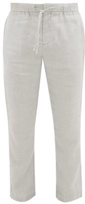 Frescobol Carioca Sport Linen-blend Chino Trousers - Light Grey