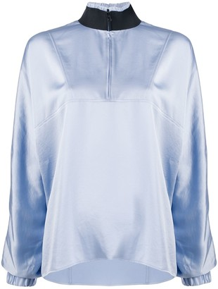 Filippa K Soft Sport Metallic Sheen Curved Hem Jacket