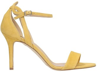 The Seller Sandals In Yellow Suede