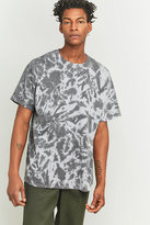 Uo Oversized Grey Tie-dye T-shirt