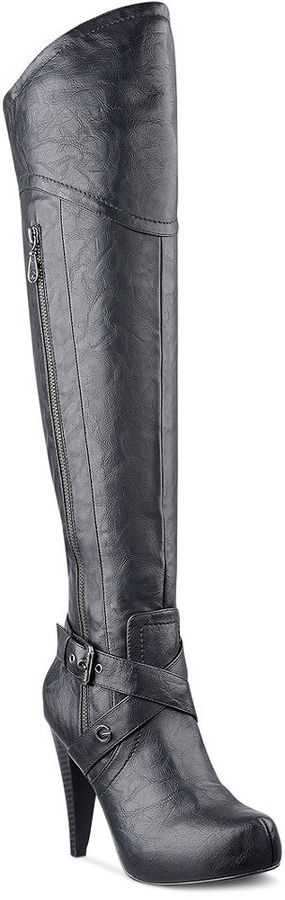 G by Guess Women's Shoes, Tiyler Over the Knee Boots