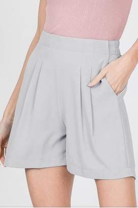 Racheal Grey Pleated Shorts
