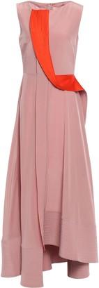 Roksanda Draped Silk Crepe De Chine Midi Dress