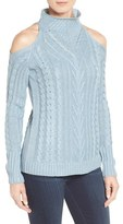 RD Style Women's Cold Shoulder Cable Knit Sweater