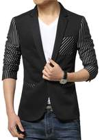 Liveinu Men's Fashion Slim Fit Suit Jacket Blazer M