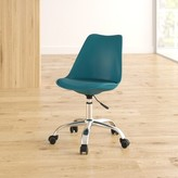 Whately Genuine Leather Task Chair Zipcode Design Color: Dark Teal
