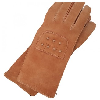 Tod's Camel Leather Gloves