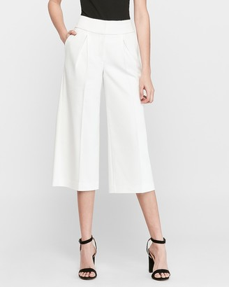 Express High Waisted Pleated Straight Culottes