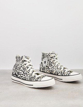 Converse Chuck Taylor All Star trainers in leopard print