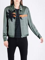 Rag & Bone Roth embroidered satin jacket