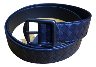 Bottega Veneta Navy Leather Belts