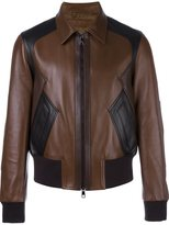 Neil Barrett zipped sheepskin jacket