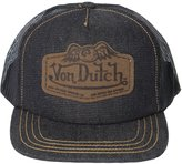 Von Dutch Men's Leather Patch Trucker Hat-One