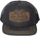 Von Dutch Men's Leather Patch Trucker Hat