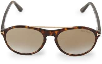 Tom Ford 53MM Tortoise Aviator Sunglasses